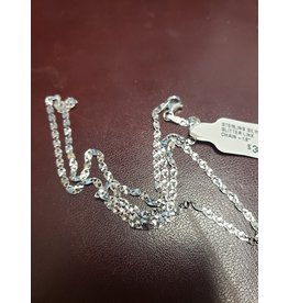 """STERLING SILVER GLITTER LINK CHAIN-18"""""""