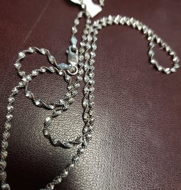 BLACK RHODIUM TWIST CHAIN-20""
