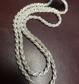 STERLING SILVER CURB CHAIN-16""