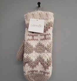 LEMON FAIRISLE MITTEN - MOONBEAM