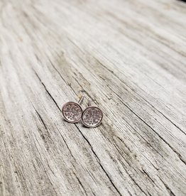 STERLING SILVER BEZEL STUD EARRINGS
