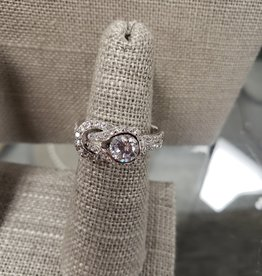 STERLING SILVER CZ RING- SIZE 8