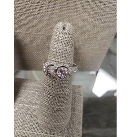 BIJOUX STERLING SILVER CZ RING- SIZE 8