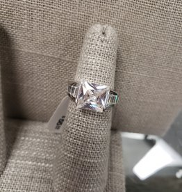 STERLING SILVER CZ RING- SIZE 6