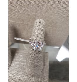 BIJOUX STERLING SILVER CZ RING-SIZE 6