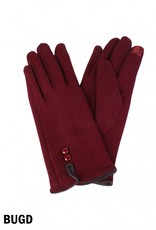 2 BUTTONED TOUCH SCREEN GLOVE
