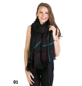 GRAND INT'L MULTI LINE STRIPED SCARF