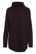 B.YOUNG NORA RIBBED COWL NECK SWEATER