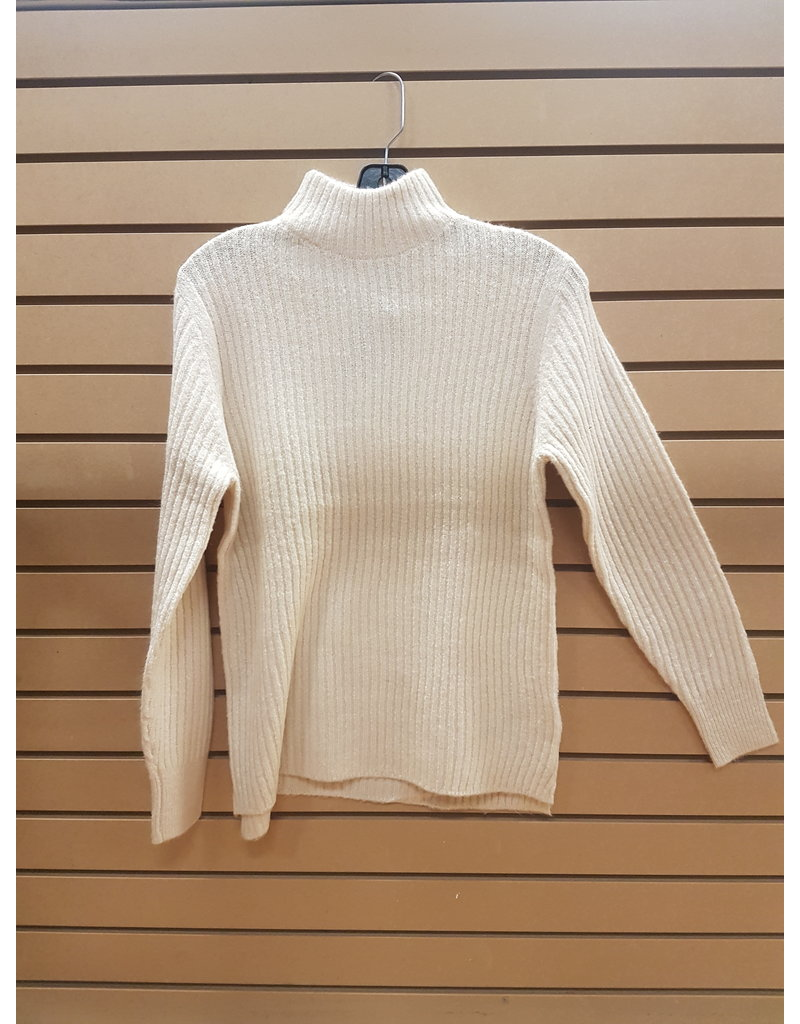 B.YOUNG NORA RIBBED MOCK NECK SWEATER