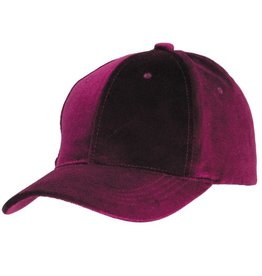 RASPBERRY VELVET BALL CAP