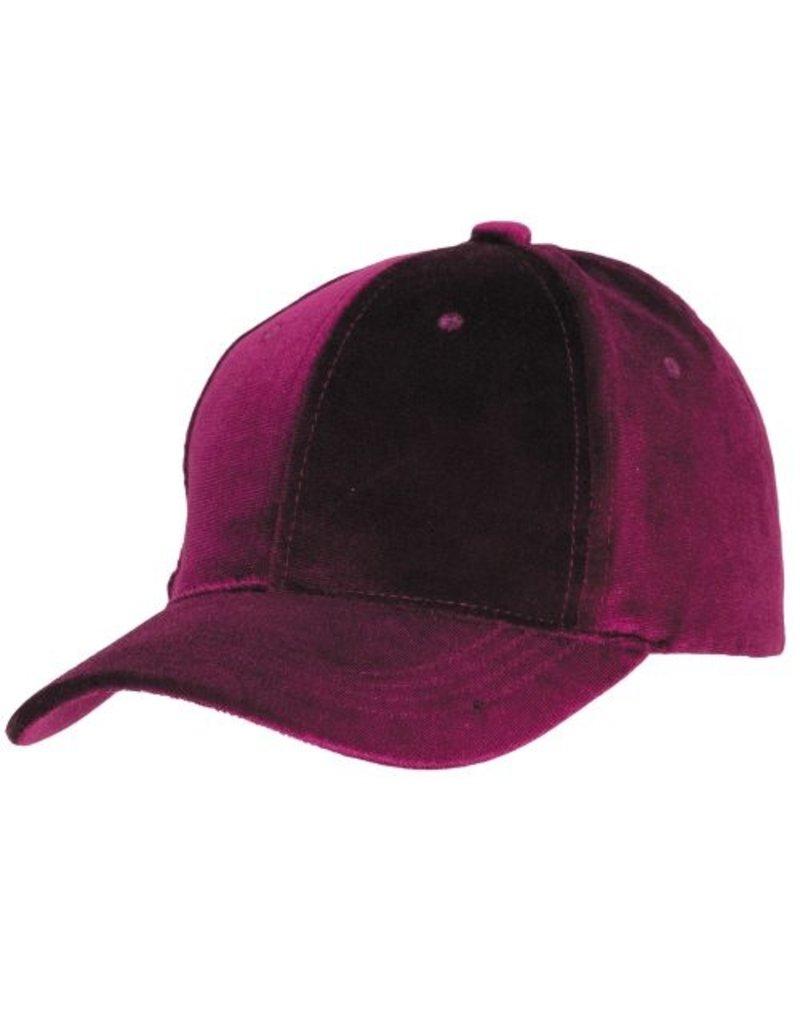 RASPBERRY VELVET BALL CAP