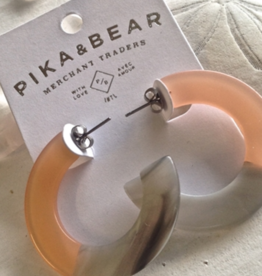 PIKA & BEAR MOD ACETATE HOOP EARRINGS - 4cm