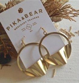 PIKA & BEAR PNEUMA BRASS HOOP EARRING