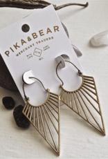 PIKA & BEAR HELIOS RAY BRASS DROP EARRRINS