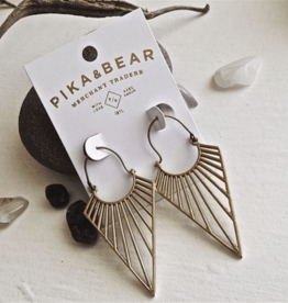 PIKA & BEAR HELIOS RAY BRASS DROP EARRRINS