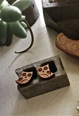 PIKA & BEAR WOOD EARRINGS