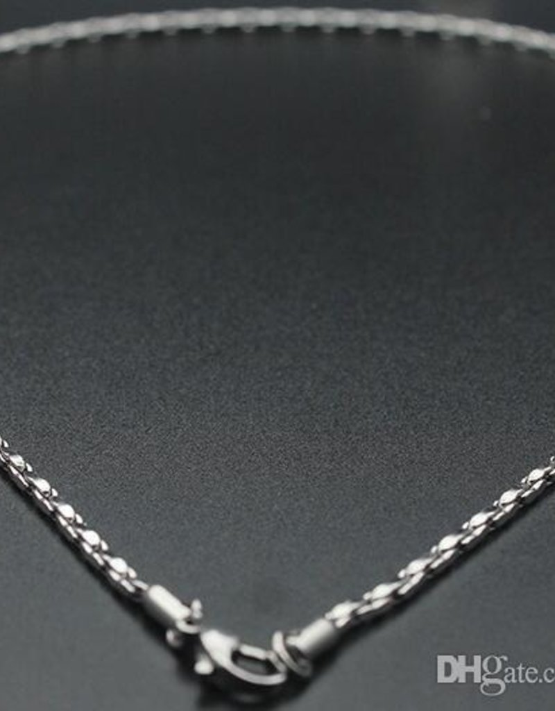 STERLING SILVER PAVE CARDANO CHAIN-18""