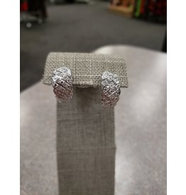STERLING SILVER .10 TWT DIAMOND  EARRING