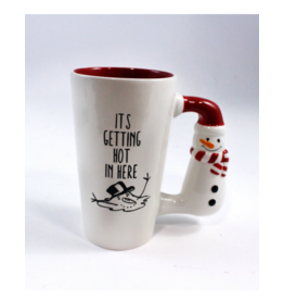 SNOWMAN HANDLE HOT IN HERE MUG