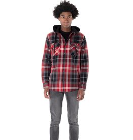 POINT ZERO FLANNEL PLAID TOP w/REMOVABLE HOOD