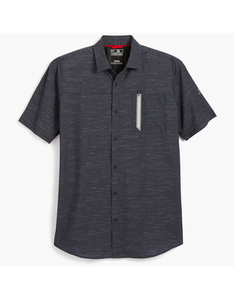 POINT ZERO PRINTED 4-WAY STRETCH DRY EDITION SHIRT