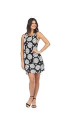 PAPILLON MANDALA PRINT SHIFT DRESS