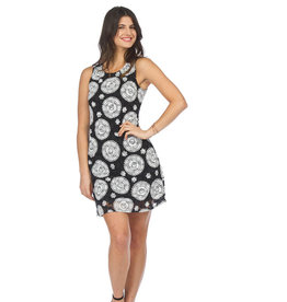 PAPILLON MANDALA PRINT SHIFT DRESS