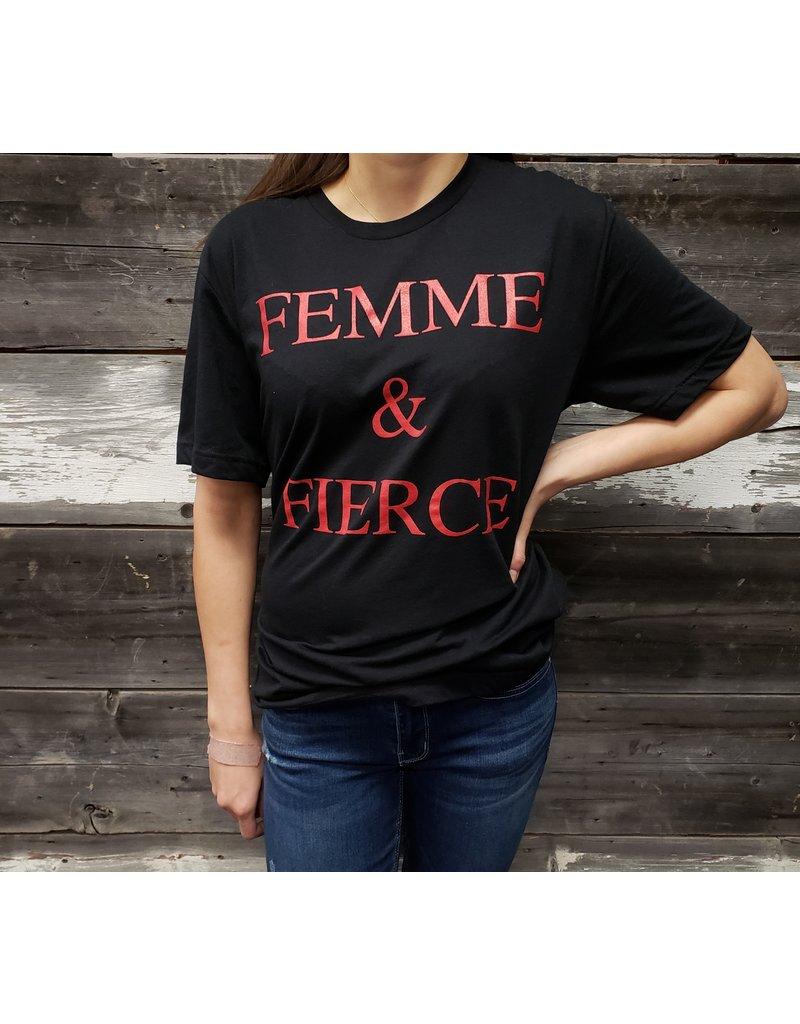 AUTHENTIC BRAVE APPAREL FEMME & FIERCE T-SHIRT