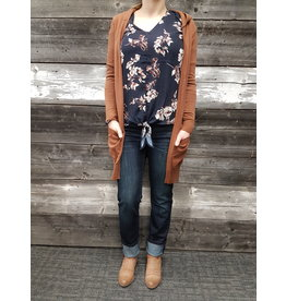 CARRELI BROWN CARDIGAN  w/POCKETS