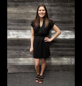 APRICOT SAFARI SHORT BLACK DRESS w/TIE
