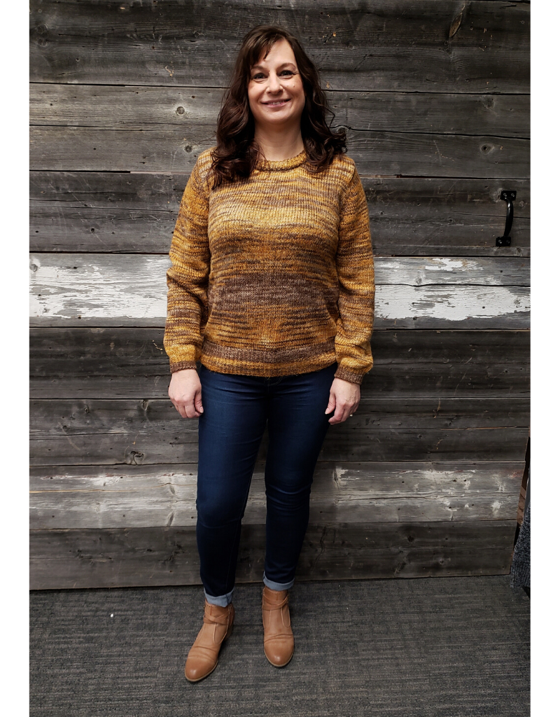 ICHI FAUNA MUSTARD KNIT SWEATER