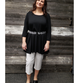 BLACK TUNIC 3/4 SLV