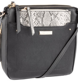 ALBERTO ELIZANN BLACK CROSSBODY PURSE