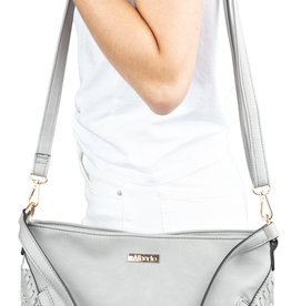 ALBERTO JAKYE GREY SHOULDER PURSE