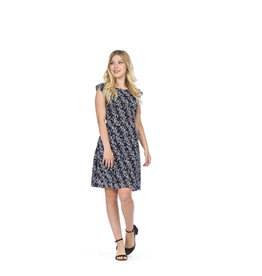 PAPILLON NAVY FLORAL LACE DRESS