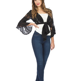 PAPILLON LACE TIE UP w/BELL SLEEVE