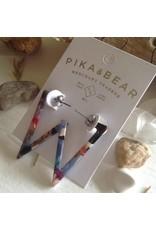 PIKA & BEAR FLYING V ACETATE EARRINGS