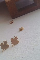 PIKA & BEAR MAPLE LEAF STUD