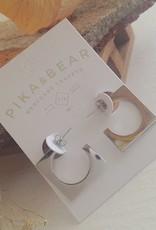 PIKA & BEAR FRATELLI MODERN HOOP EARRINGS