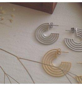 PIKA & BEAR LO-FI STAINLESS STEEL EARRINGS IN GOLD