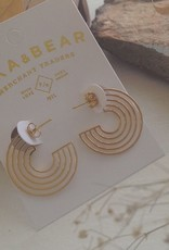PIKA & BEAR LO-FI STAINLESS STEEL EARRINGS IN GOLD