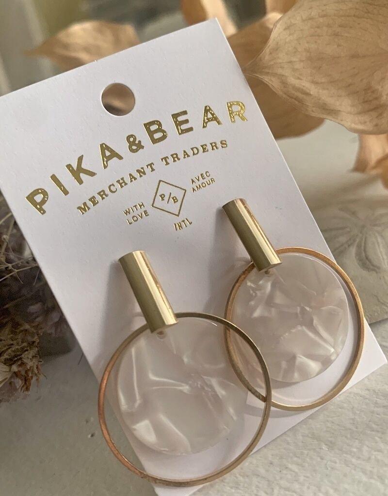 PIKA & BEAR WALLACE ACETATE/GOLD EARRINGS