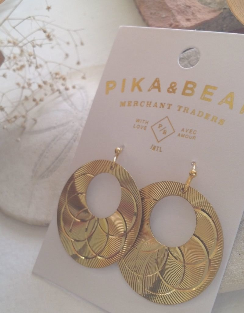 PIKA & BEAR COUBERTIN ART DECO EARRINGS