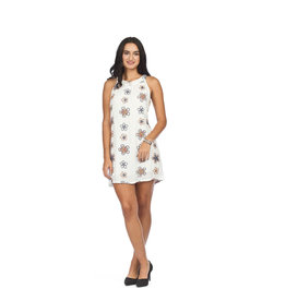 PAPILLON EMBROIDERED FLORAL DRESS