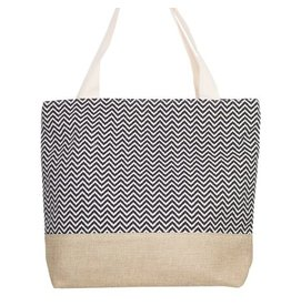 CHEVRON BEACH BAG