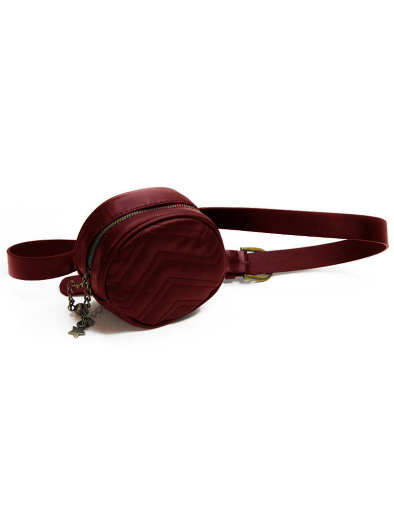SIMI QUILTED BELT BAG WINE