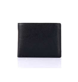 MENS LEATHER BIFOLD WALLET w/CARD FLAP