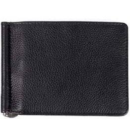 KARLA HANSON MENS LEATHER MONEY CLIP WALLET