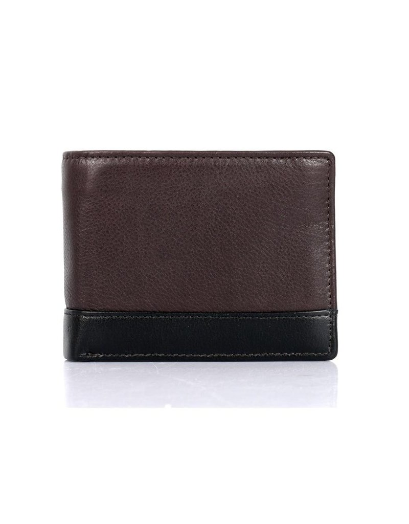 MENS TWO TONE LEATHER WALLET