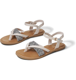 TOMS WOMENS LEXIE MINI LEOPARD BUCKLE SANDAL